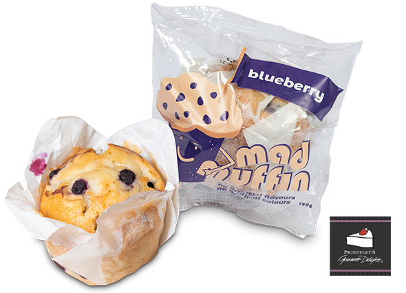 individually wrapped blueberry muffin